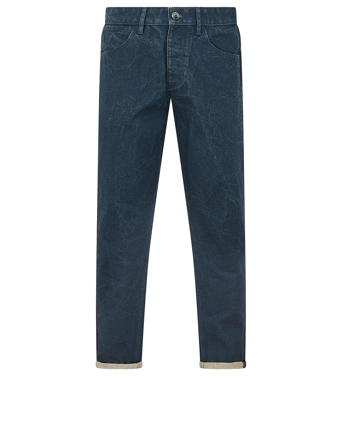 J02J1 PANAMA PLACCATO RE-T 5 Pocket Pants in Blue Marine