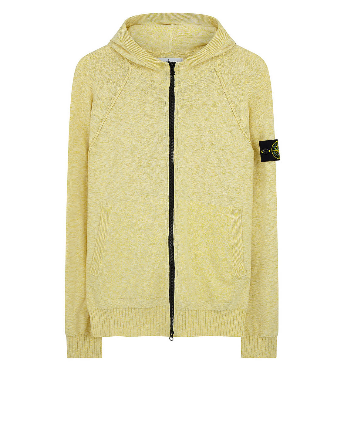 536B0 Full Knit Zip in Yellow