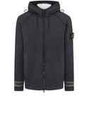 565A6 Felted Pure Wool Detachable Lining Hooded Jacket in Black