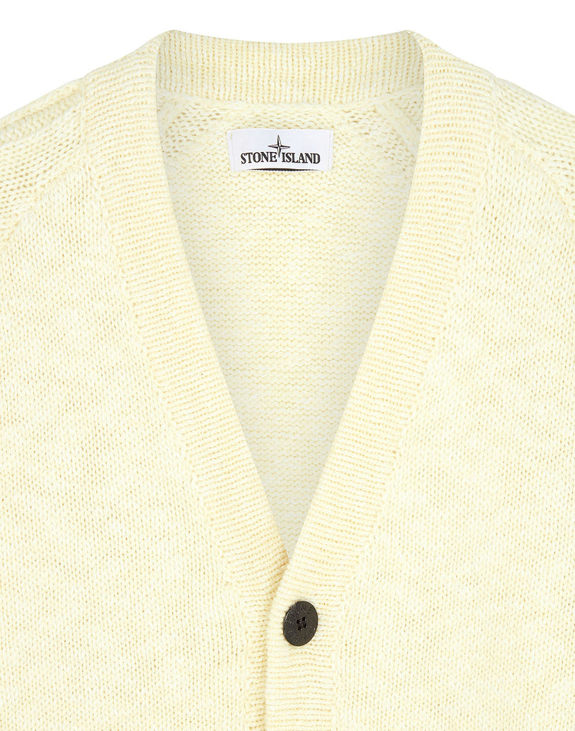 572D3 Collarless Cardigan Knit in Butter