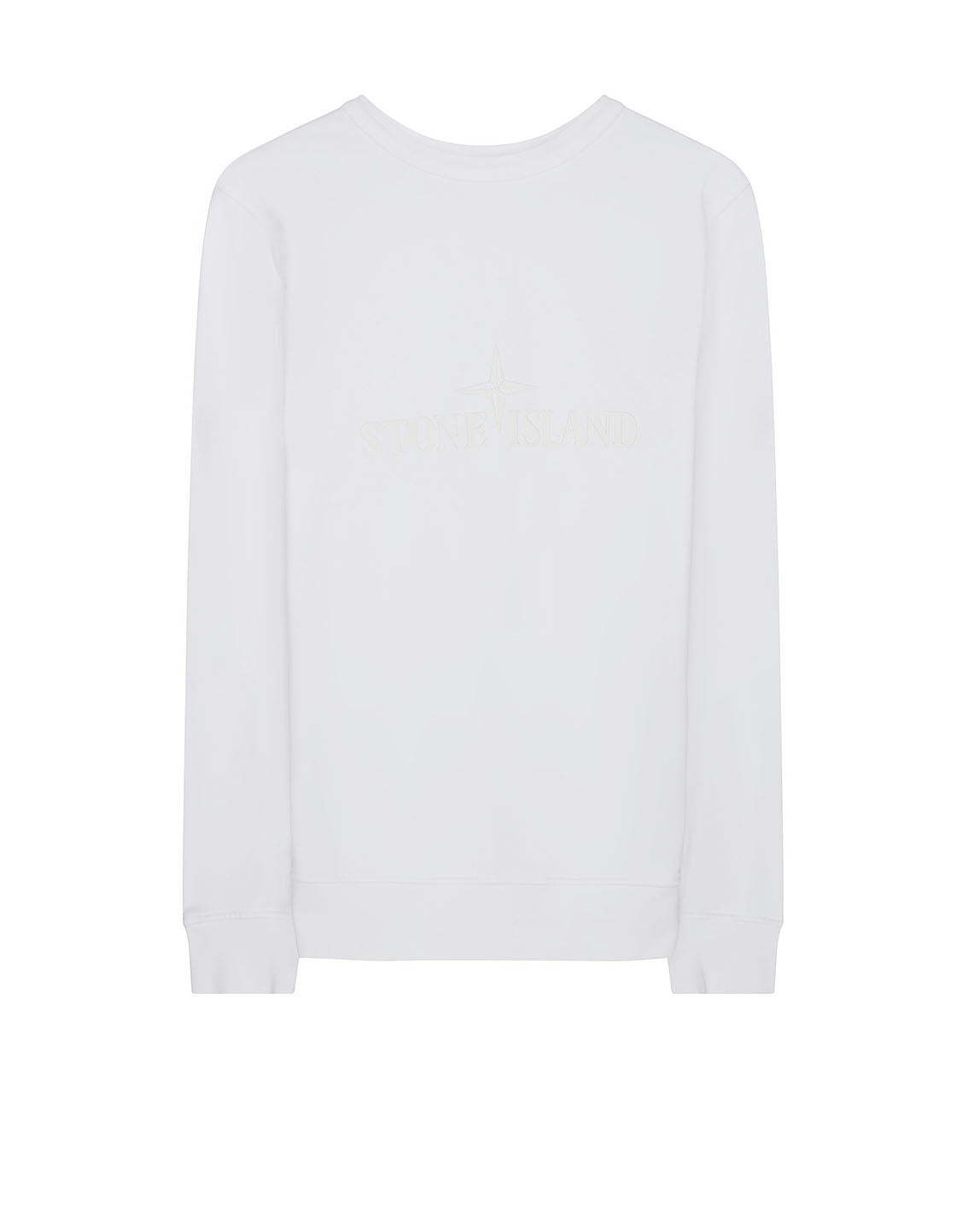 60151 Crewneck Fleece Sweatshirt in White