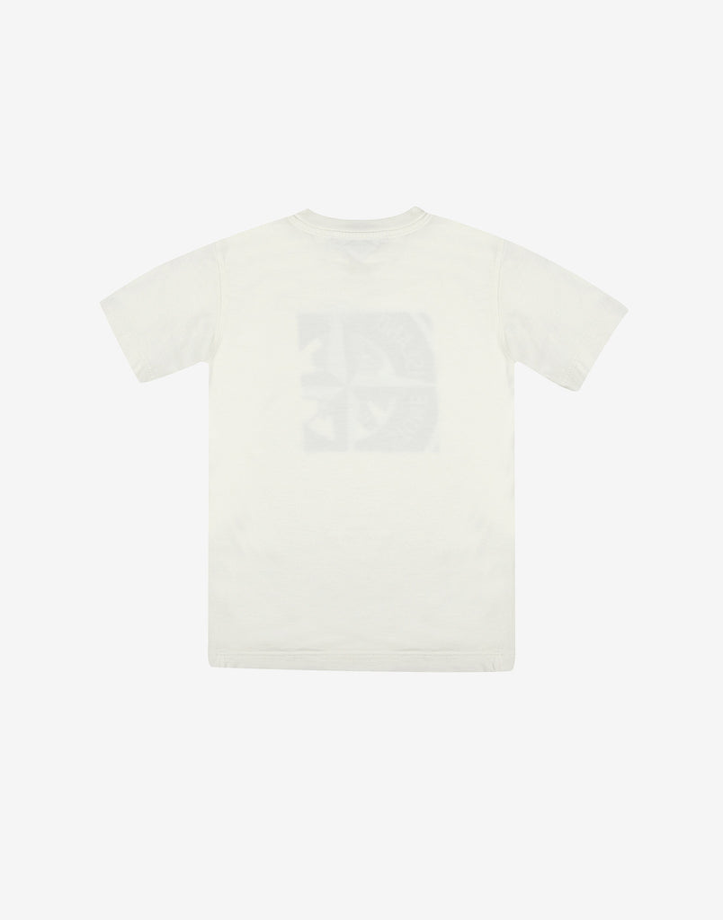 Stone Island Junior 21055 Short Sleeve T-Shirt in White