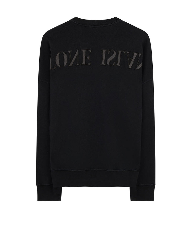 61261 'OLD' DYE TREATMENT Sweatshirt in Black