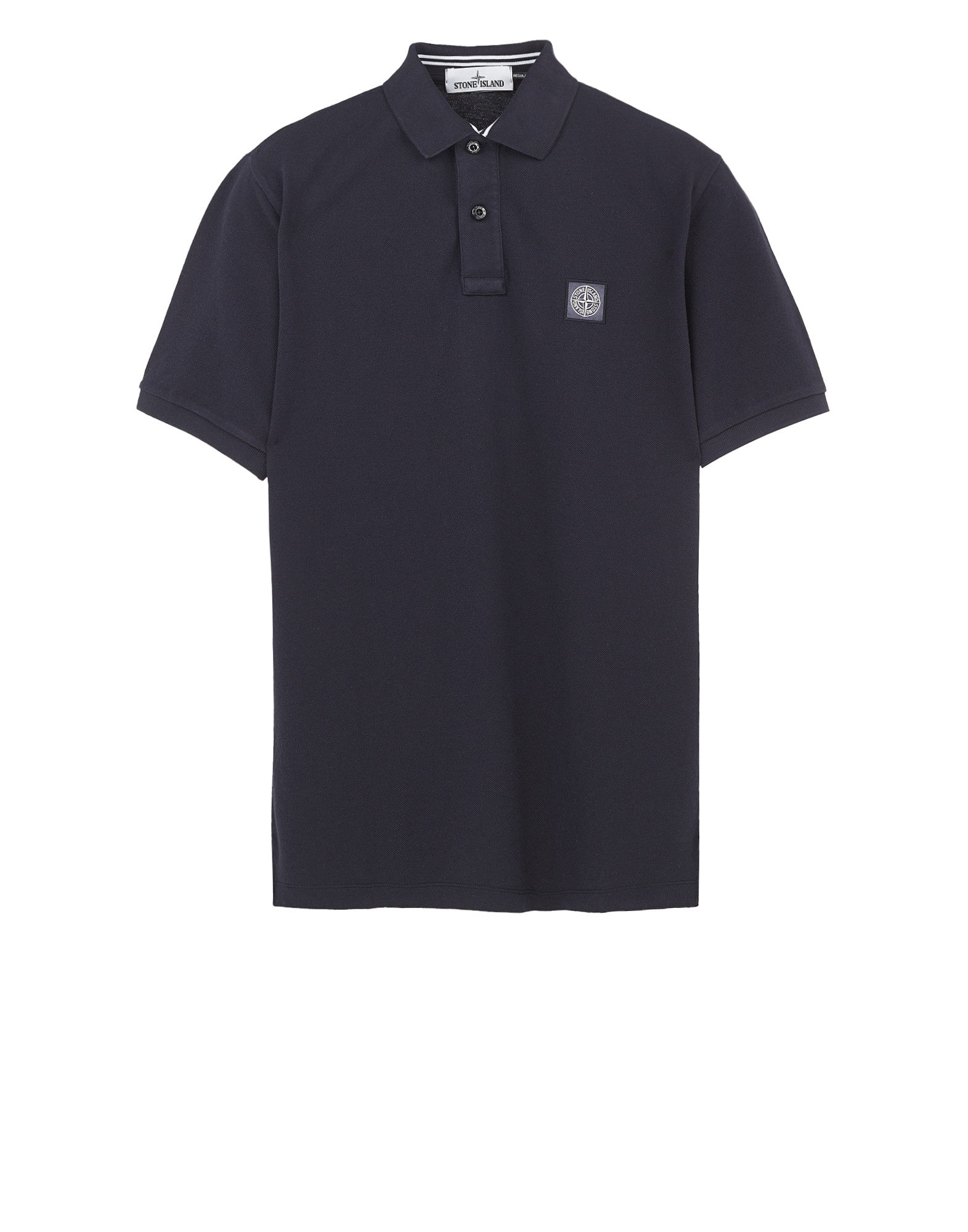 22C15 Cotton Pique Polo Shirt in Navy Blue