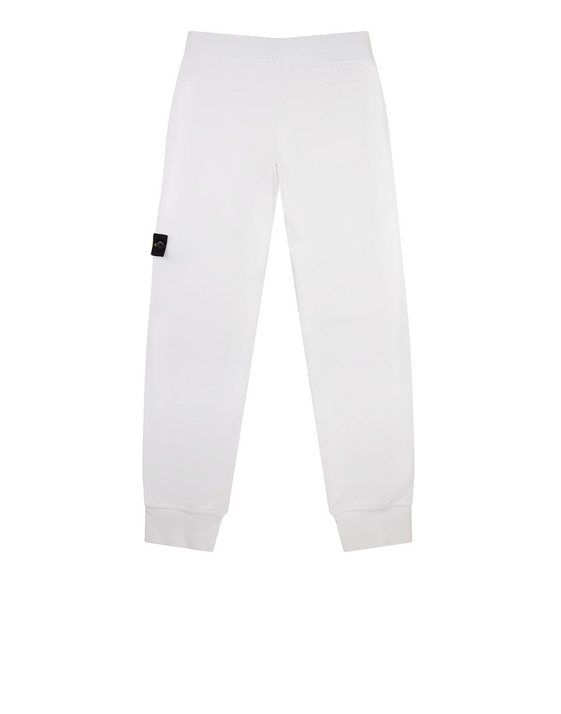 62240 Cotton Fleece Trousers in White