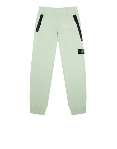 62240 Cotton Fleece Trousers in Green