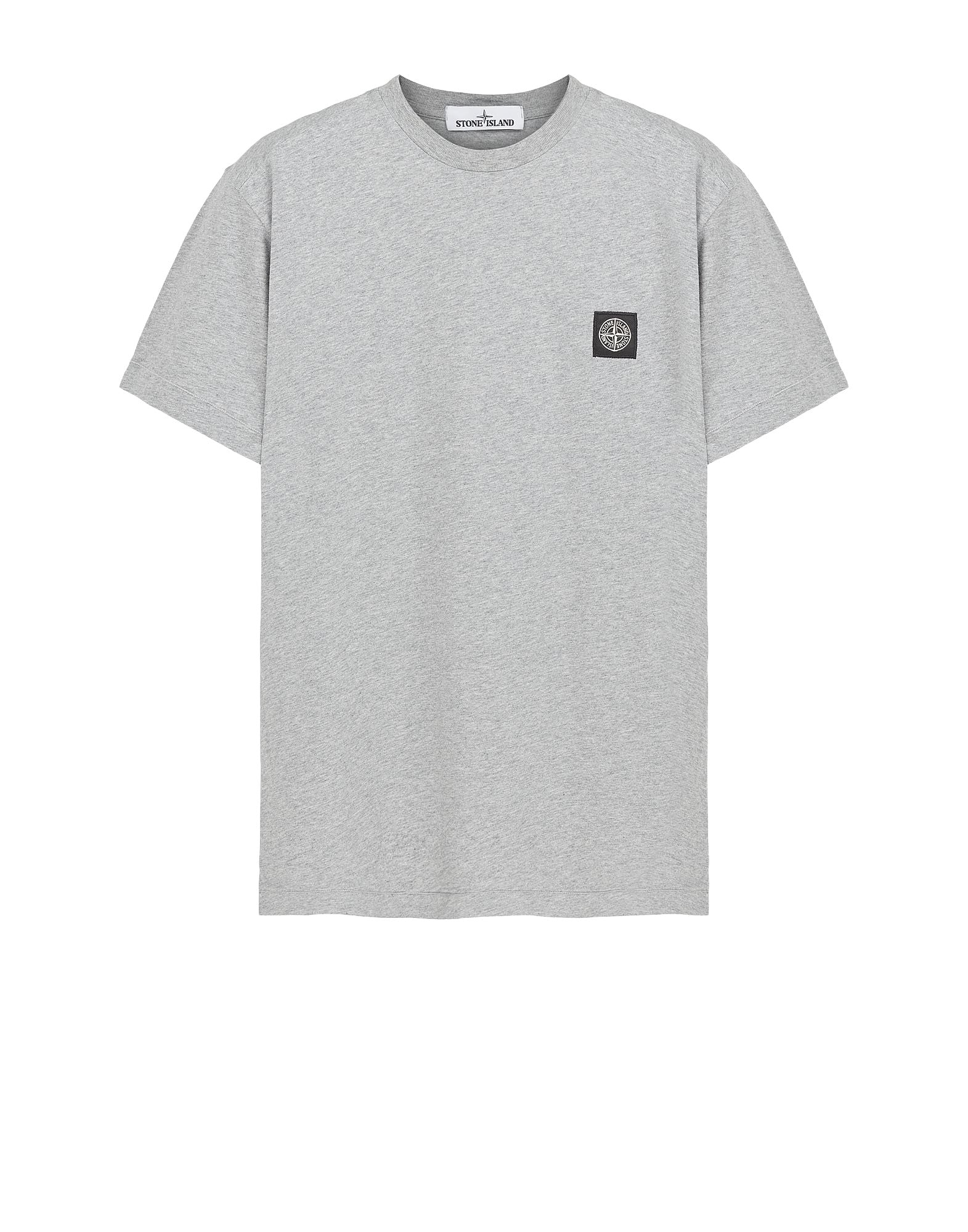 24141 Small Logo Patch T-Shirt in Grey