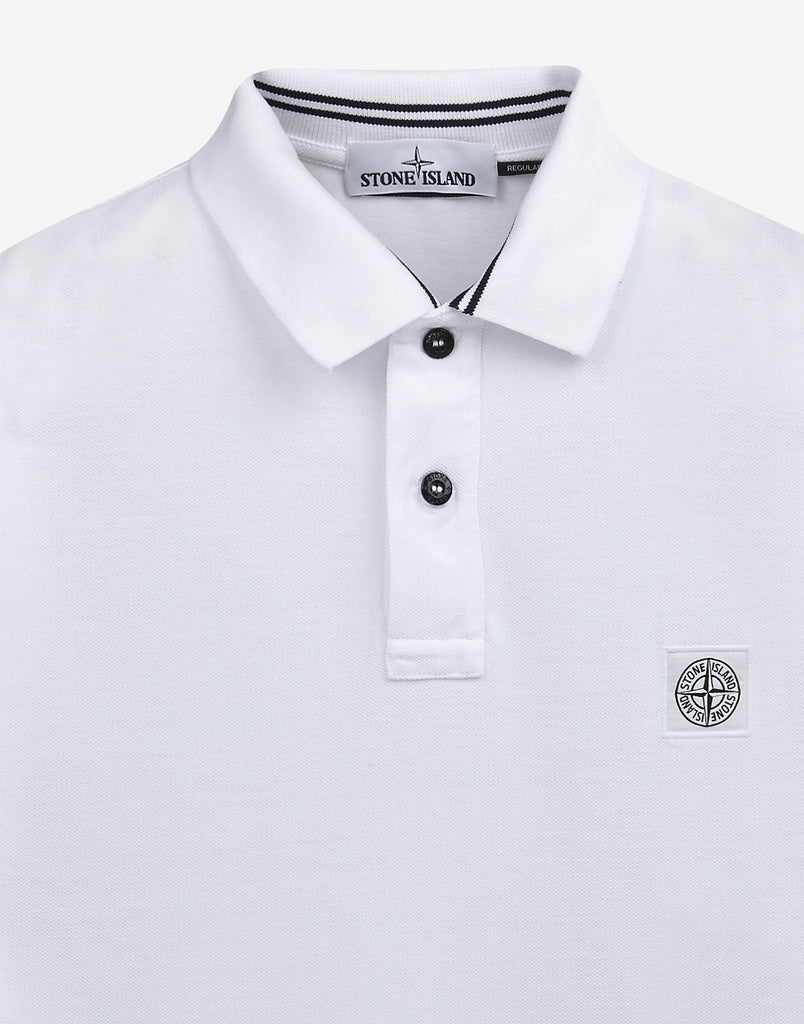 22C15 Cotton Pique Polo Shirt in White