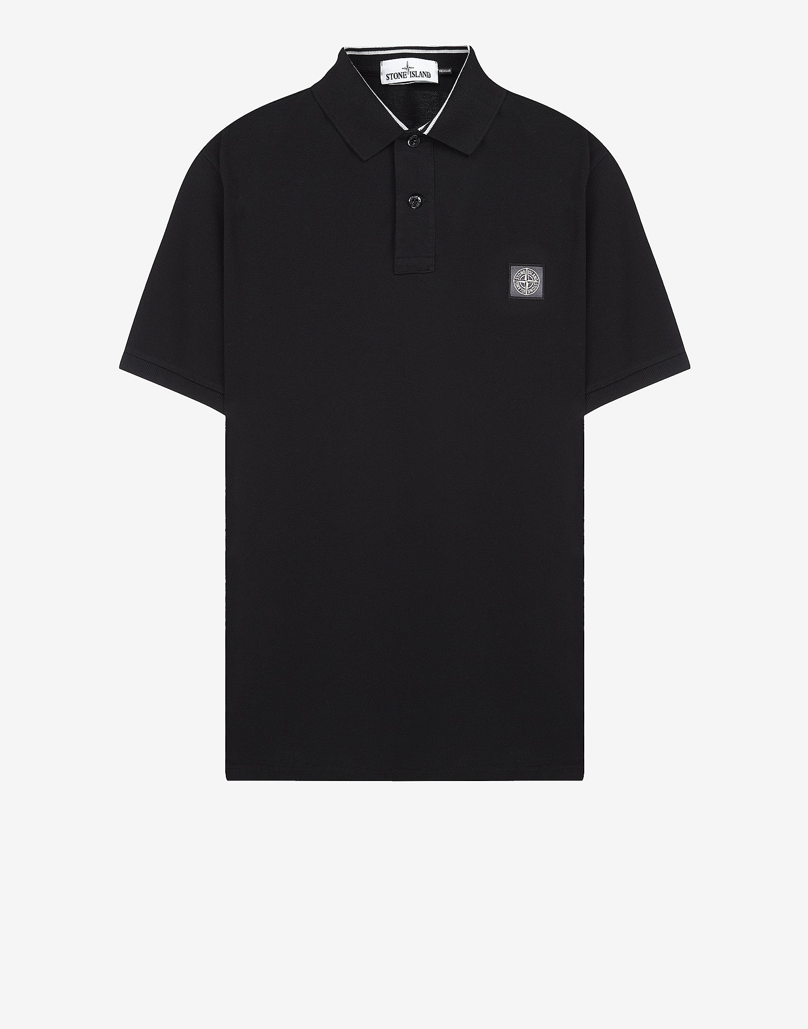 22C15 Cotton Pique Polo Shirt in Black
