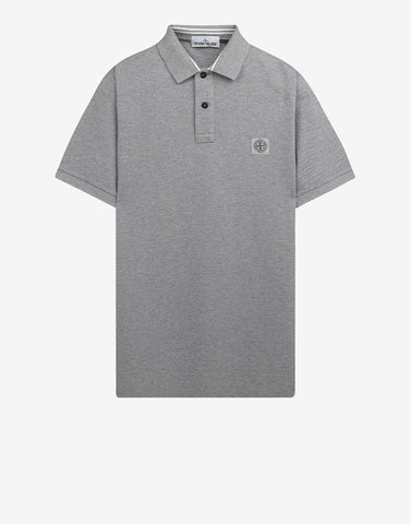 22C15 Cotton Pique Polo Shirt in Dark Grey