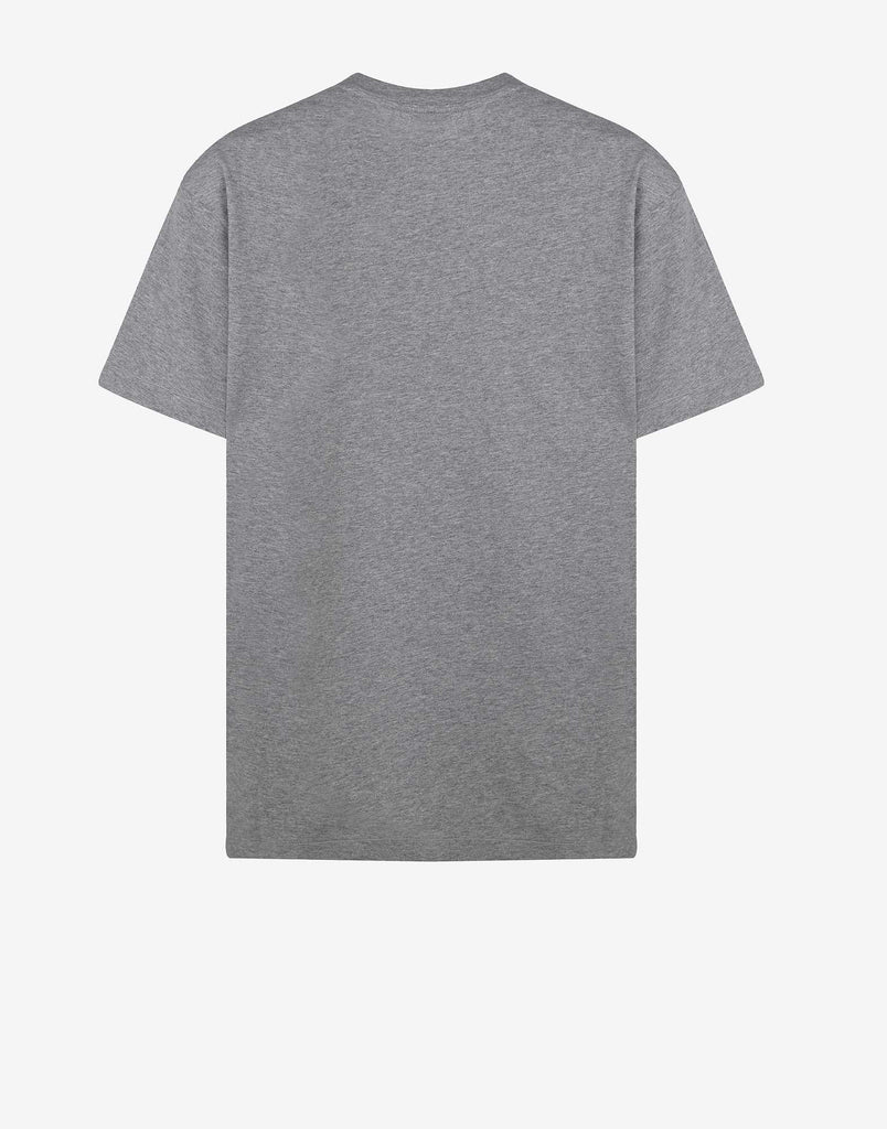 24141 Small Logo Patch T-Shirt in Light Grey