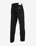 J1BZM Garment Dyed Cotton Satin Trousers in Black