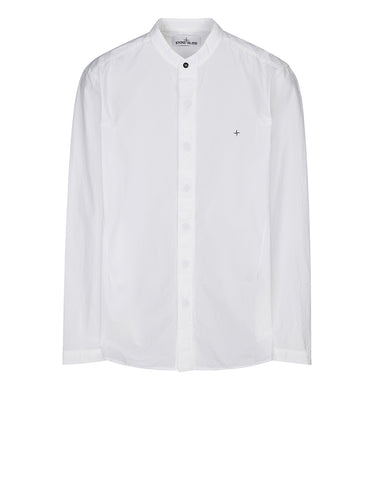 11701 Long Sleeve Cotton Shirt in White