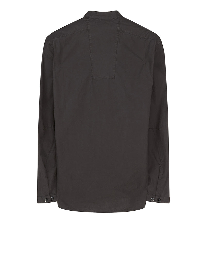 11701 Long Sleeve Cotton Shirt in Black