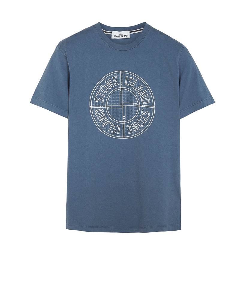 20184 'CHECK PIN' T-Shirt in Blue