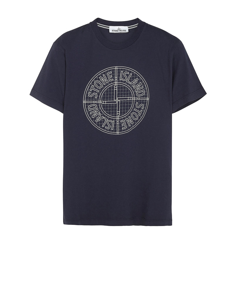 20184 'CHECK PIN' T-Shirt in Navy Blue