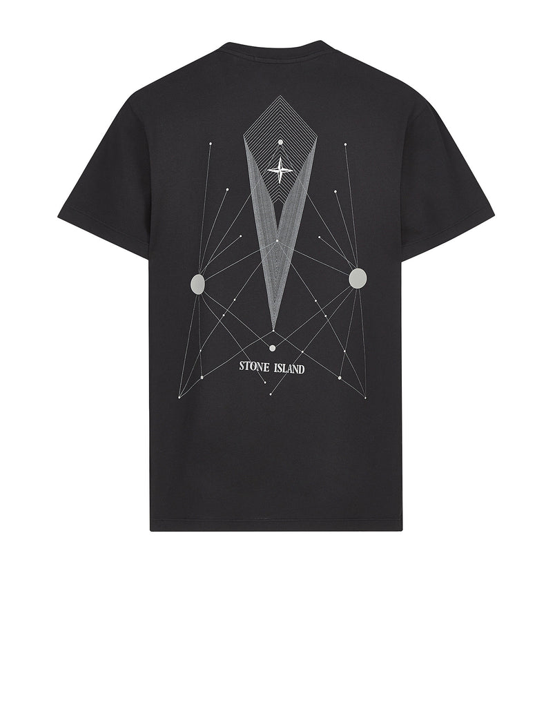 20186 'CONSTELLATION ABSTRACT' T-Shirt in Black