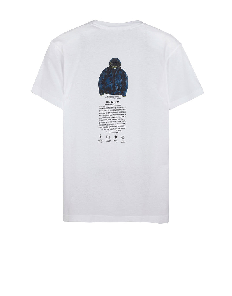 20190 STONE ISLAND ARCHIVIO PROJECT ICE JACKET T-Shirt in White