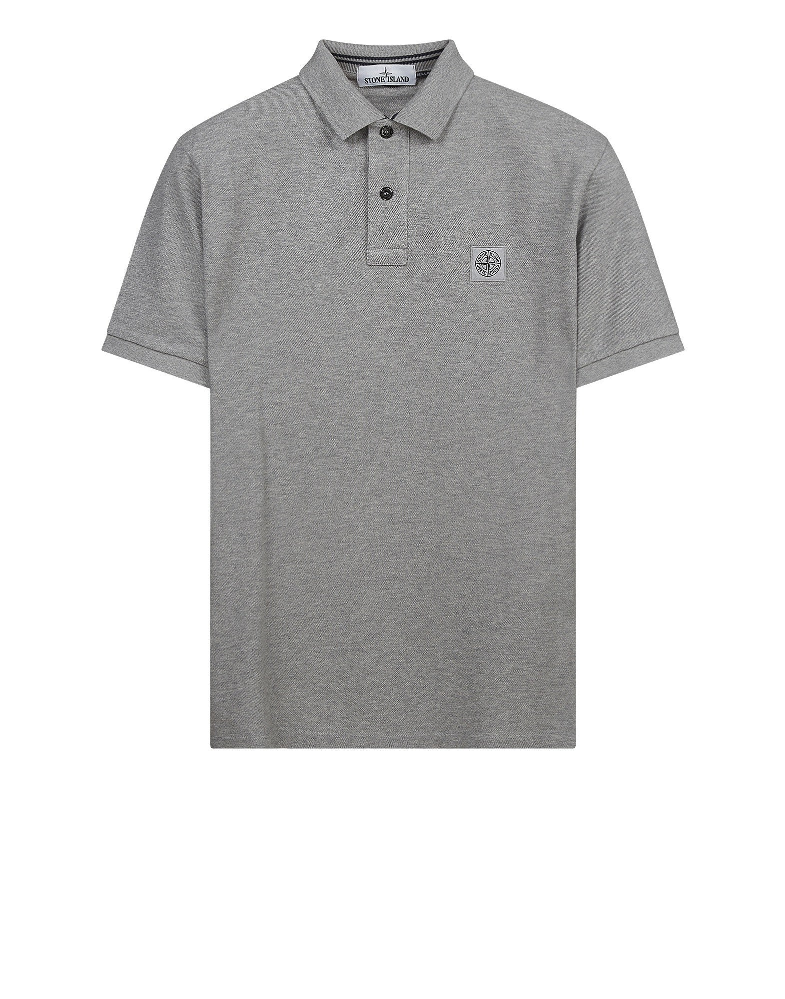22C15 Cotton Pique Polo Shirt in Grey