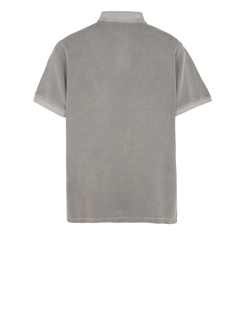 22S67 PIGMENT TREATED Polo Shirt in Grey