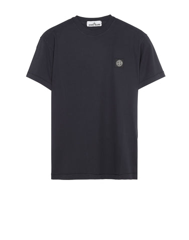 24141 Small Logo Patch T-Shirt in Navy Blue