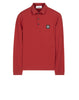 24418 Long sleeve Polo Shirt in Red