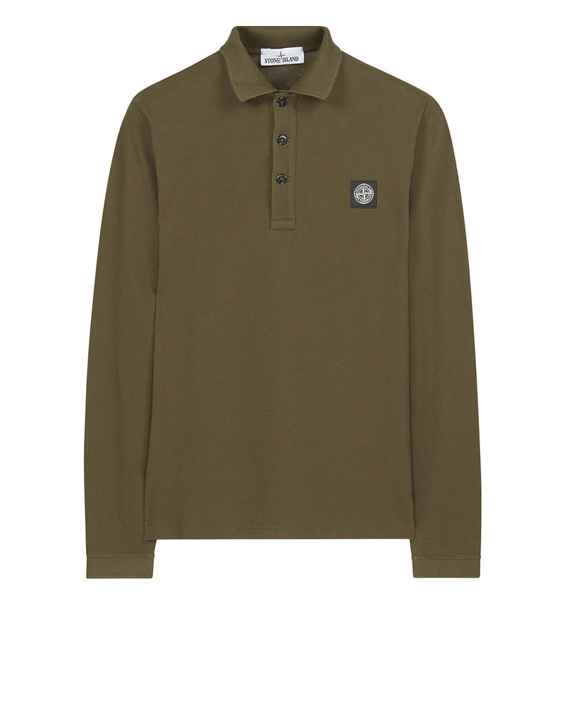 24418 Long sleeve Polo Shirt in Green