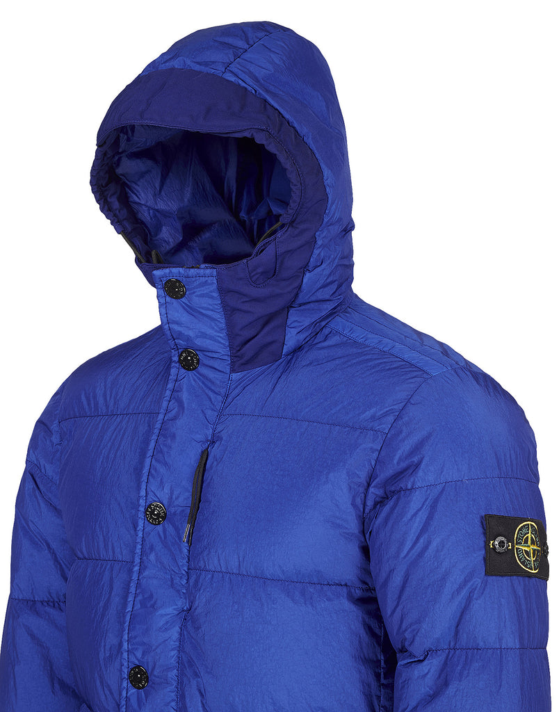 42923 GARMENT DYED CRINKLE REPS NY - DOWN Jacket in Blue