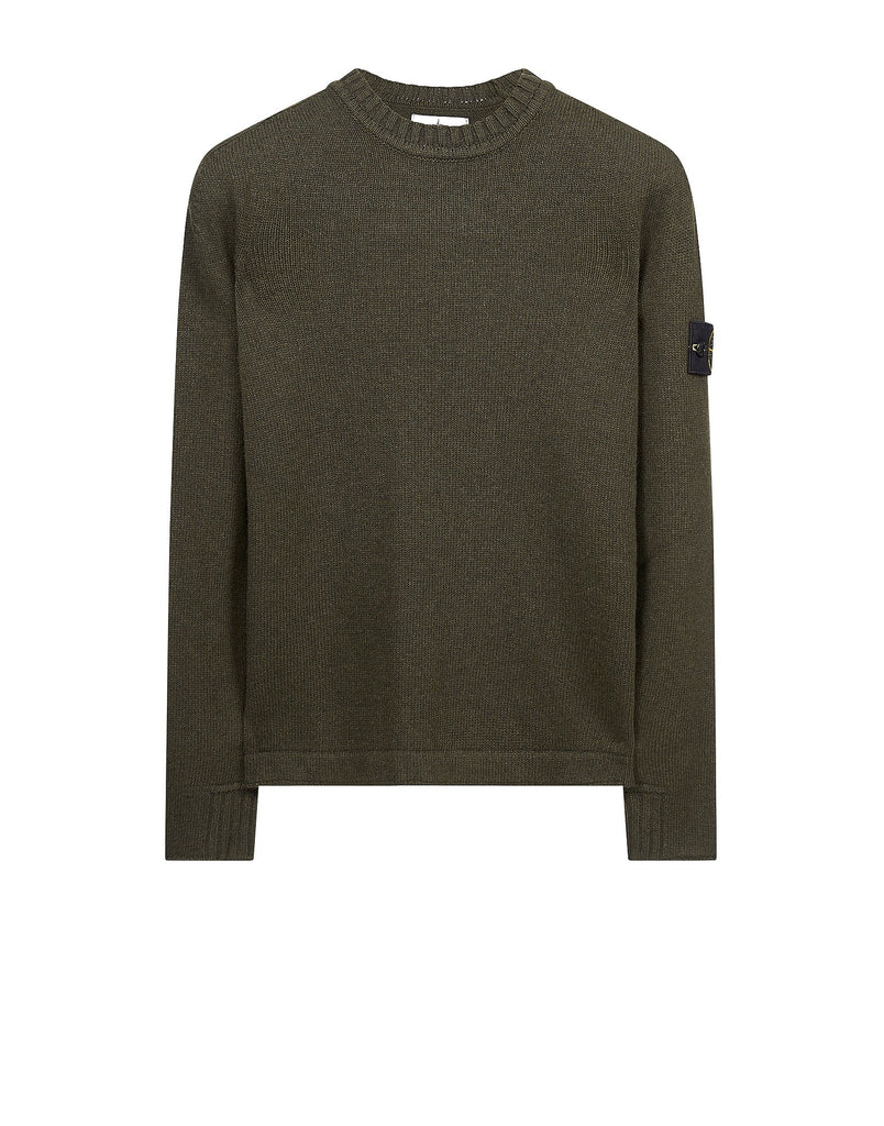 503A3 Lambswool Crew Neck Sweatshirt in Green