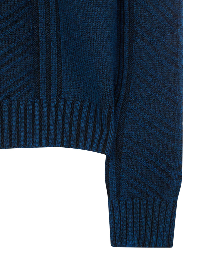 560D4 SHOT TREATMENT Knit in Blue