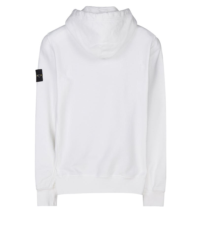 60620 Garment-Dyed Hooded Sweatshirt in White