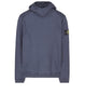 619J3 STONE ISLAND HOUSE CHECK Hooded Sweatshirt in Blue