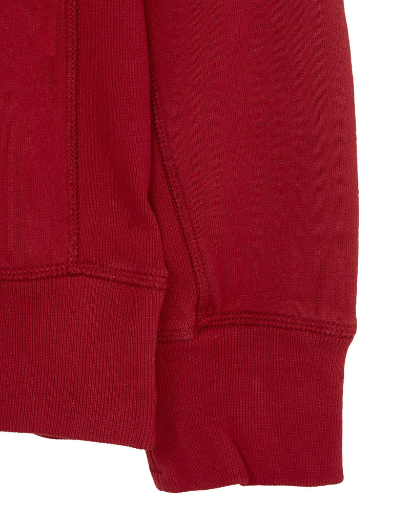 65320 Garment-Dyed Sweatshirt in Red