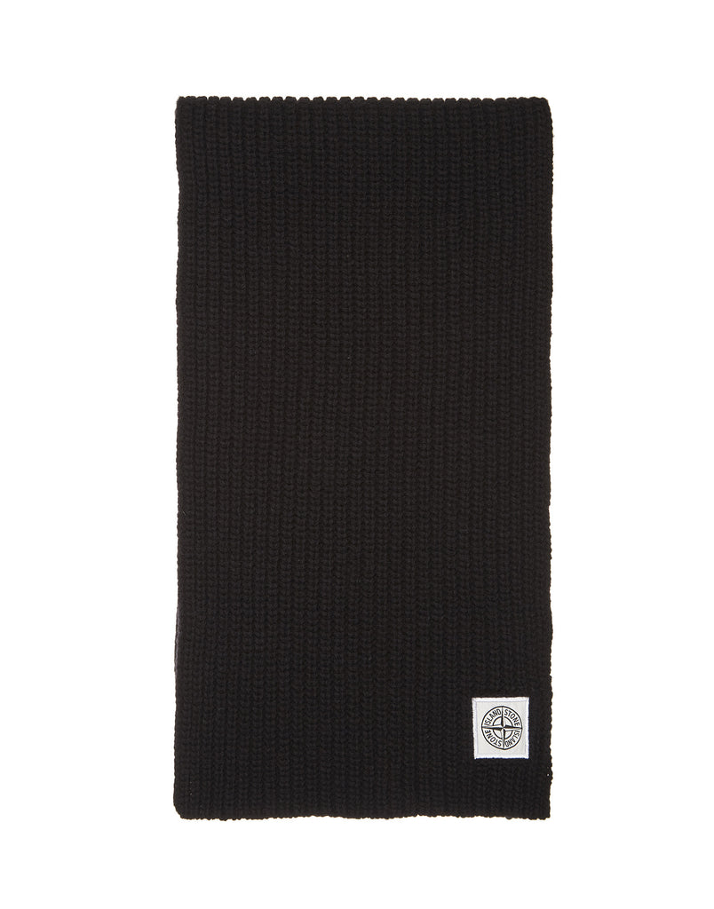 N30A7 Ribbed Scarf in Black