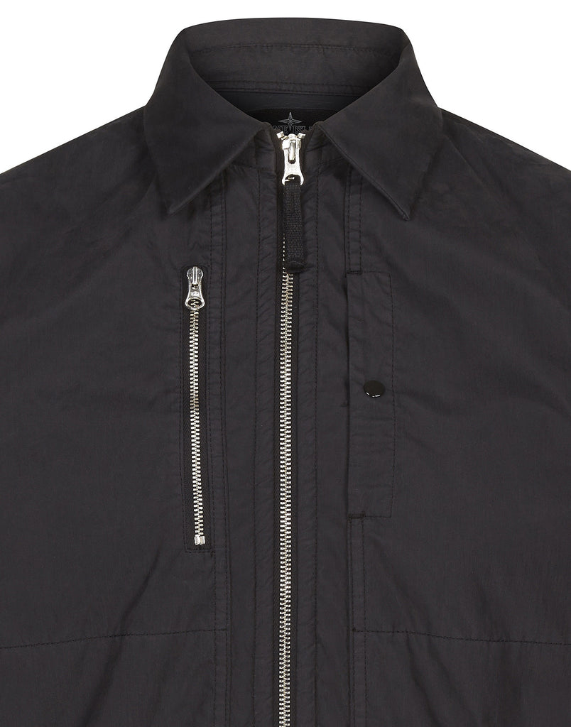 10307 INSULATED OVERSHIRT _ COTTON SATIN/BRUSHED NYLON in Black