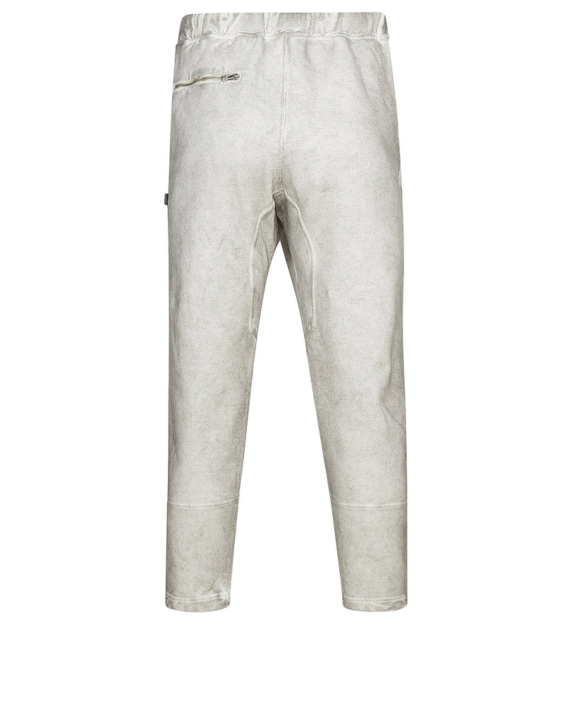 60410 SWEATPANTS _ GAUZED COTTON FLEECE WITH FALLOUT COLOUR TREATMENT in Grey