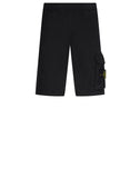 65860 'OLD' DYE TREATMENT Fleece Shorts in Black