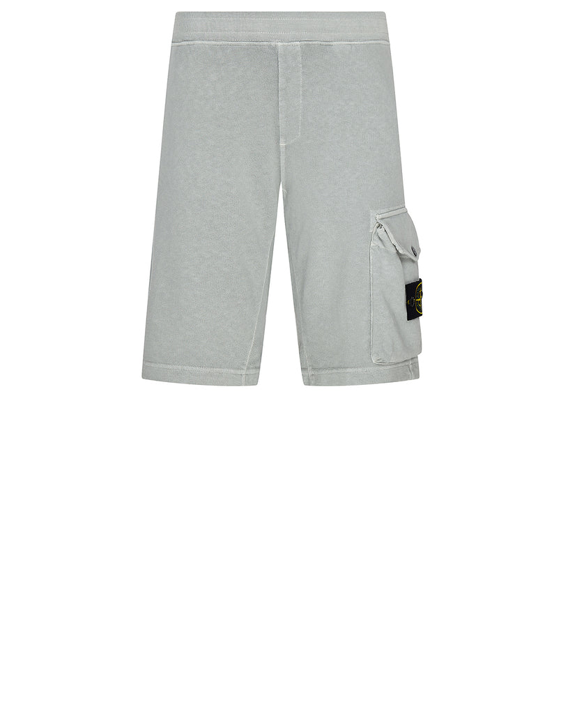 65860 'OLD' DYE TREATMENT Fleece Shorts in Pearl Grey