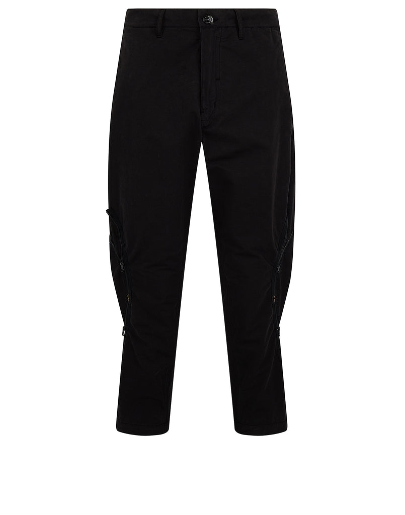 30109 ADJUSTMENT ZIP UP TROUSERS in Black