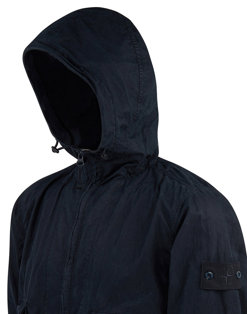703F1 GHOST PIECE_50 FILI RESINATA  Jacket in Navy Blue