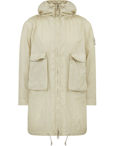 703F1 GHOST PIECE_50 FILI RESINATA  Jacket in Beige