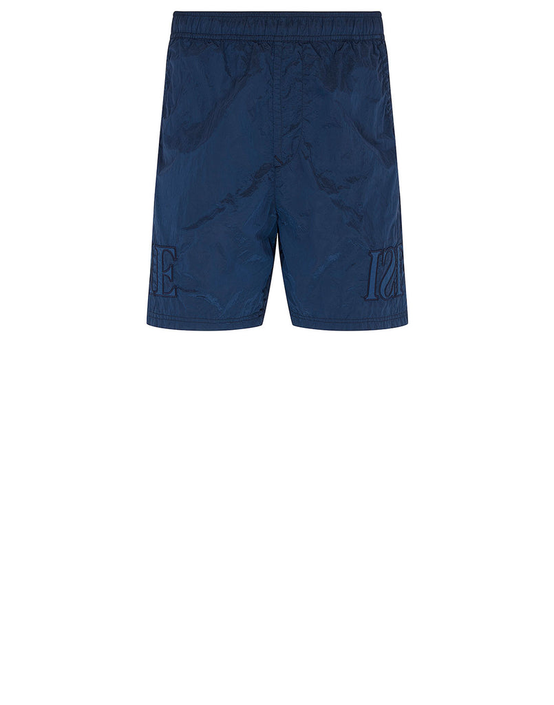 B0443 NYLON METAL Shorts in Blue