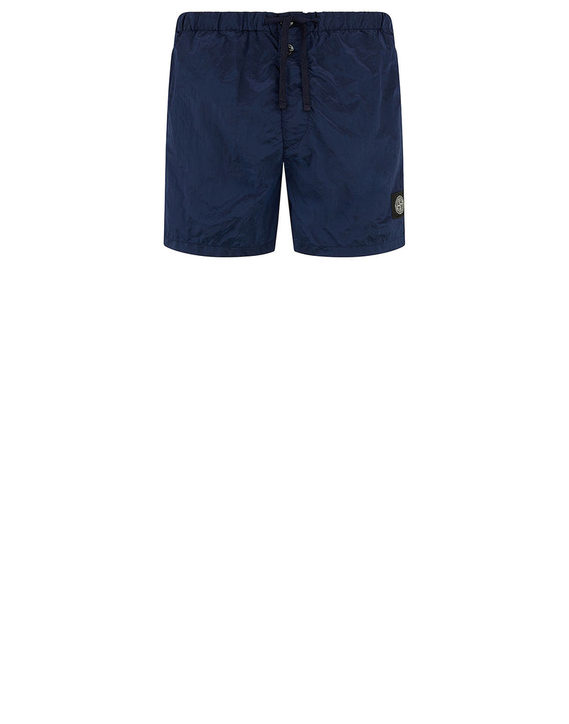 B0643 NYLON METAL Shorts in Blue Marine