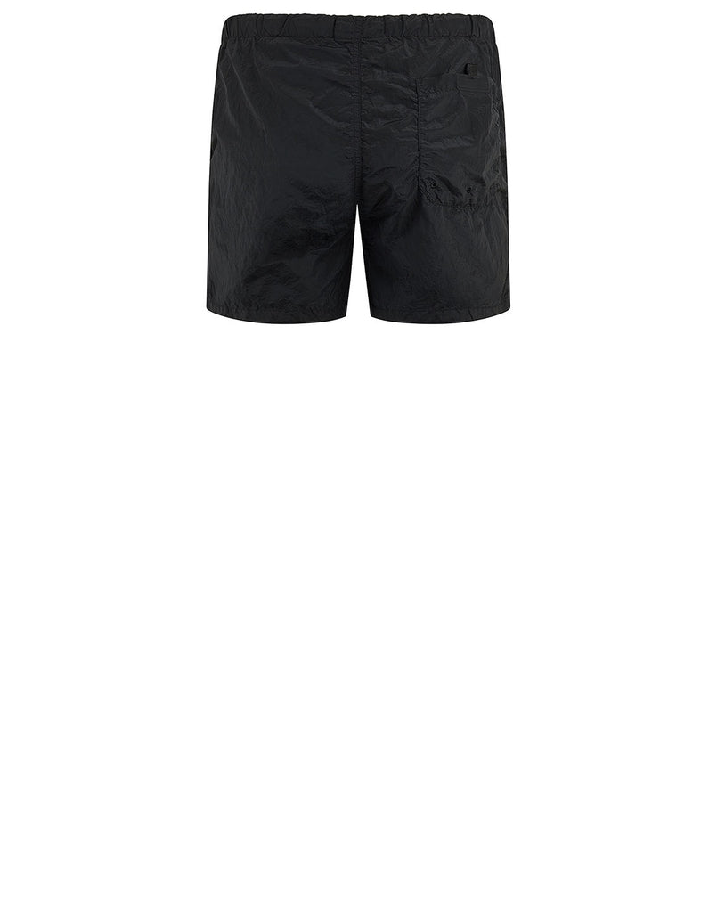 B0643 NYLON METAL Shorts in Black
