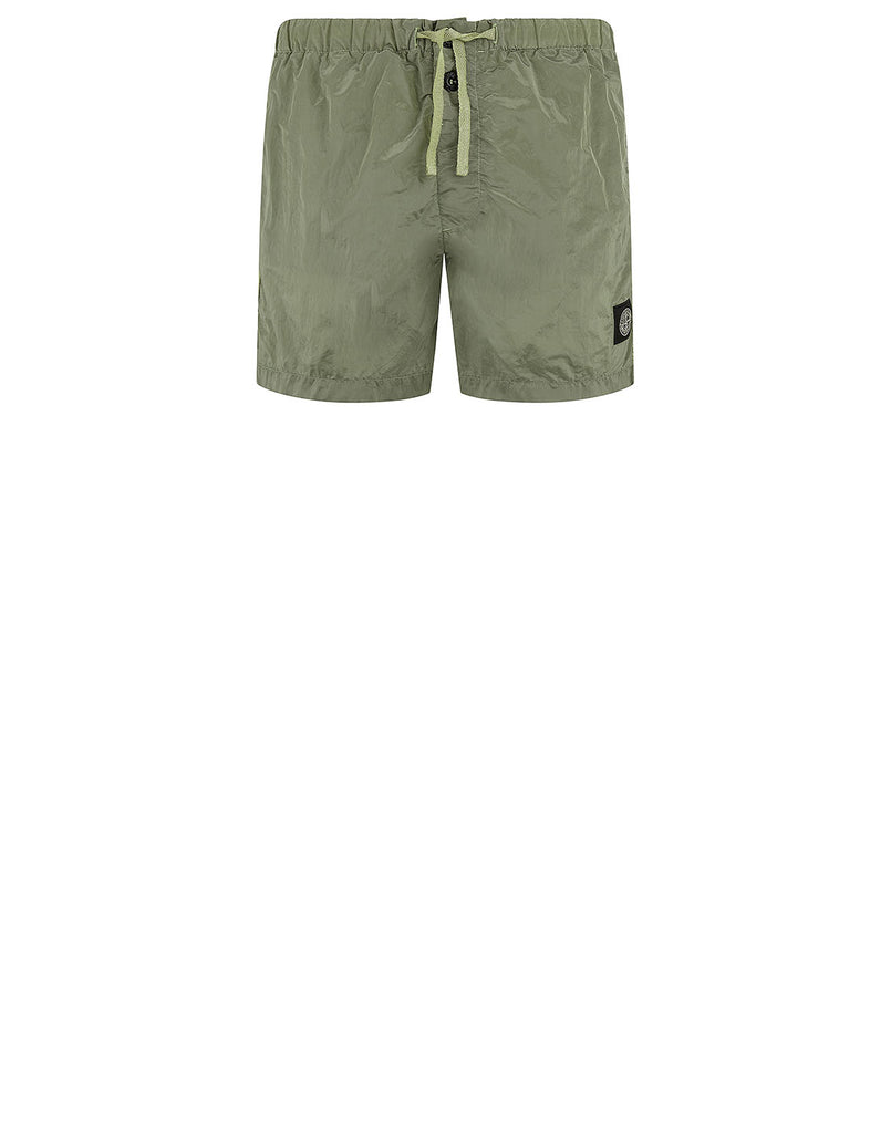 B0643 NYLON METAL Shorts in Sage