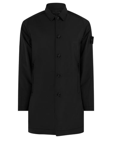 709F1 POLIESTERE STRETCH 5 L_GHOST PIECE Coat in Black
