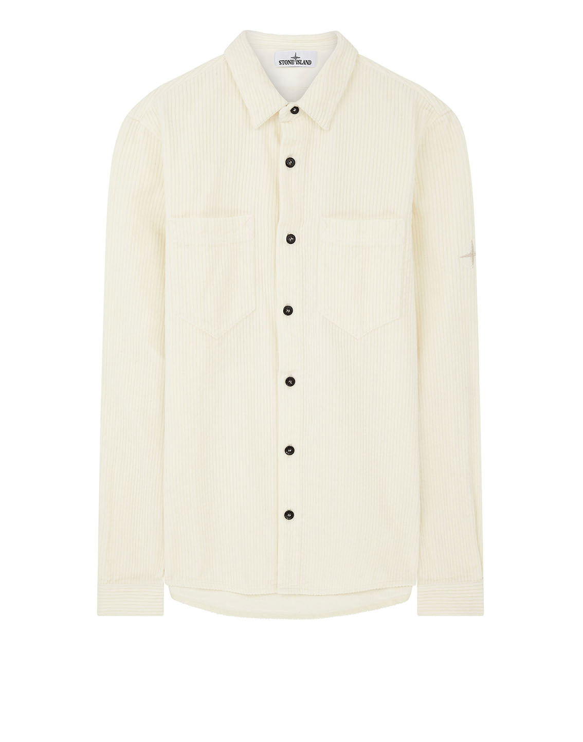 11209 Corduroy Overshirt in Ivory