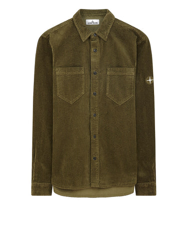 11209 Corduroy Overshirt in Olive