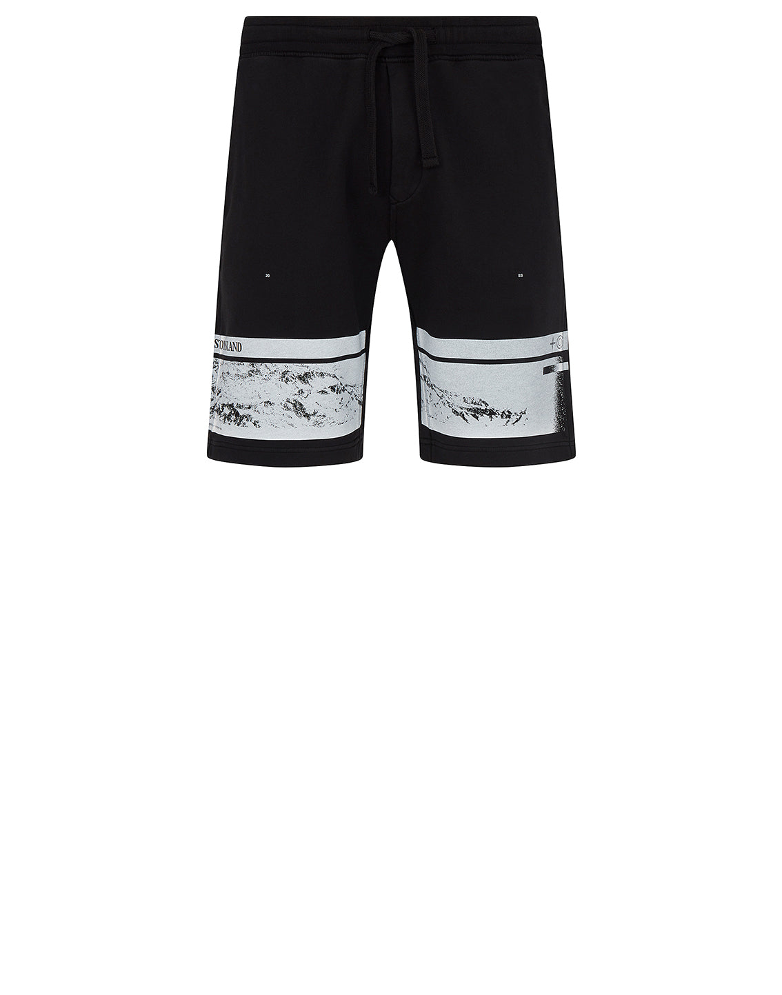 66595 'DRONE FOUR' Fleece Shorts in Black