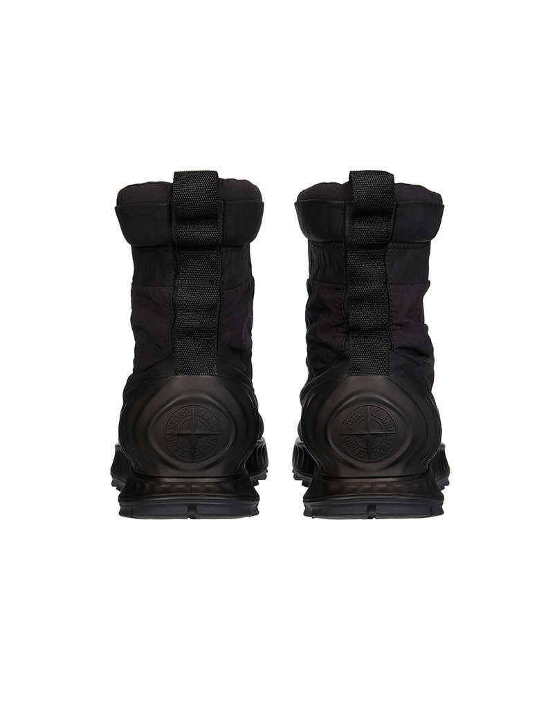 S0695 Garment Dyed Leather Exostrike Boot in Black